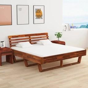 3056373 vidaXL Cadru de pat cu 2 noptiere, 180 x 200 cm, lemn masiv de acacia