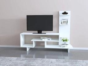 Comoda Tv cu Raft - Simge - Alb