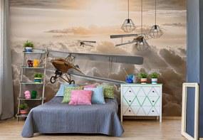 Fototapet GLIX - Planes Flying Above The Clouds + adeziv GRATUIT Tapet nețesute - 254x184 cm