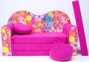 Canapea pentru copii - floral H12 Flowers