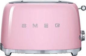 Prajitor de paine Smeg TSF01PKEU, 950 W, roz, retro