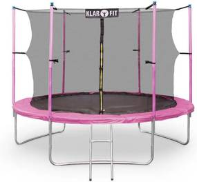 Klarfit Rocket Start XXL trambulină 305cm incl. Siguranța aluminiu net scara copertă roz