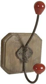 Cuier din lemn Antic Line Red Single