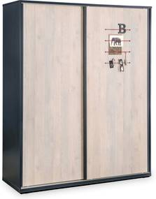 Dulap din PAL cu usi glisante Trio 163x203x58 cm