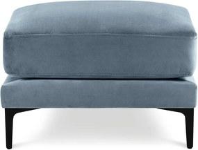 Taburet cu tapițerie din catifea Kooko Home Harmony, albastru deschis