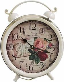 Ceas de masa clasic alb Roses Shabby Chic 21x27H