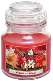 Lumânare în sticlă cu capac TURTĂ DULCE DE CRĂCIUN 130 g
