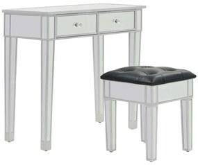 246661 vidaXL Masă de toaletă tip oglindă cu scaun, MDF și sticlă