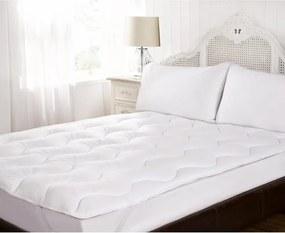 Topper din textil, alb, 180 x 200 cm