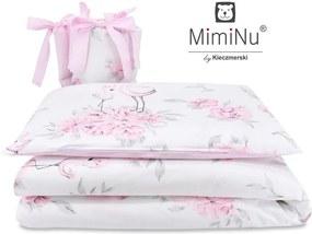 MimiNu - Set 3 piese patut, Peonie Pink
