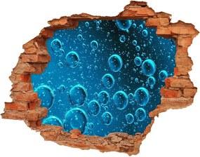 Autocolant de perete gaură 3D Bule sub apă