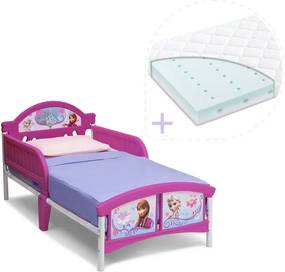 Delta Children Set pat cu cadru metalic Disney Frozen si saltea pentru patut Dreamily - 140 x 70 x 10 cm
