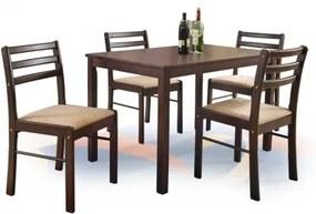 NEW STARTER masă + 4 scaune, espresso