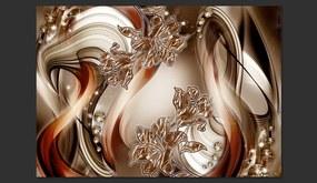 Fototapet Bimago -  Brown Symphony + Adeziv gratuit 300x210 cm