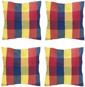 Set 4 Perne din bumbac pentru leagan sau hamac, 45x45cm, rosu/albastru
