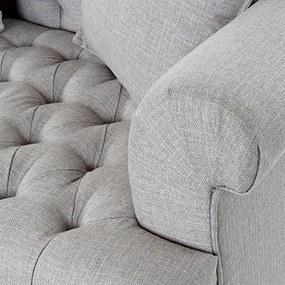 Canapea Grey cu butoni si perne 218x93 cm