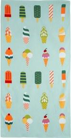Prosop de plajă Ice Cream, 70 x 140 cm