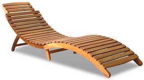 43987 vidaXL Șezlong din lemn masiv de acacia, 190 x 60 x 51 cm, maro