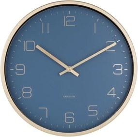 Ceas de perete Karlsson Elegance, albastru