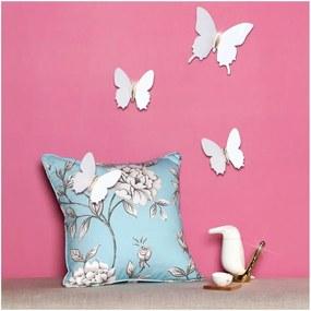 Set 12 autocolante cu efect 3D Ambiance Diamond Butterflies, alb