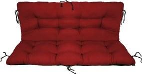 Set perne decorative pentru mobilier paleti, perna sezut 120x70 cm + perna spate 120x40 cm, culoare visiniu