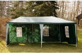 Foișor de grădină 3x6m pliabil + 6 pereți, verde