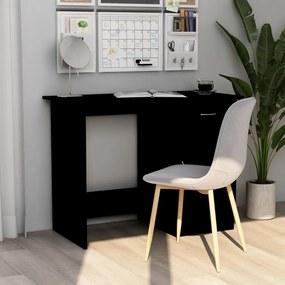 801081 vidaXL Birou, negru, 100 x 50 x 76 cm, PAL