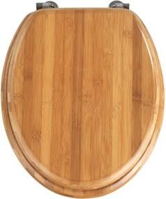 Capac WC din lemn de bambus Wenko Bamboo, 42,5 x 37 cm