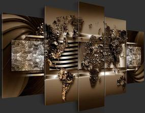 Bimago Tablou - Chocolate Map 100x50 cm