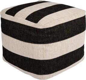 Puf adecvat pentru exterior Bougari Dazzo, 48 x 42 cm, negru - alb
