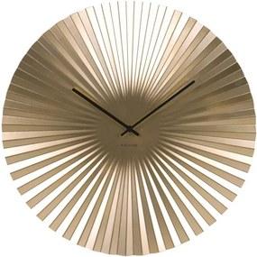 Ceas de perete Karlsson Sensu, Ø 50 cm, auriu