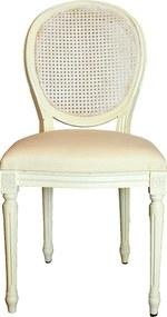 Scaun Laurelle din lemn alb 45x45x95 cm