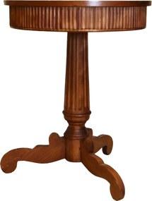 Masa rotunda din lemn de nuc antichizat
