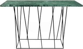 Consolă TemaHome Helix din marmură cu picioare negre, verde