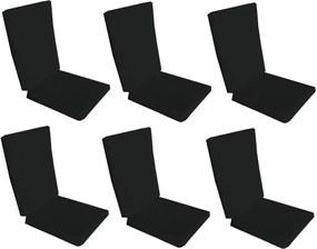Set 6 perne decorative pentru scaun de bucatarie cu spatar, dimensiune sezut 42x40 cm, spatar 42x50 cm, culoare negru