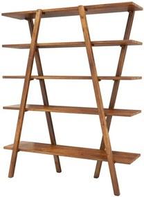 Bibliotecă Milford, lemn, maro, 148 x 120 x 30 cm