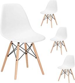 Set 6 Scaune moderne pentru living sau bucatarie Milano, 120kg, alb, 6 bucati