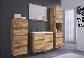 Expedo Set mobilier baie ALOMA cu lavor, stejar wotan