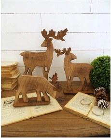 Set 3 reni decorativi din lemn Orchidea Milano Deers Malo