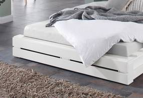 Sertar alb pentru pat 157/87/23 cm