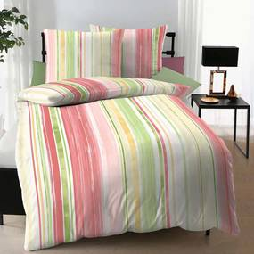 Lenjerie pat Meridian Jersey multicolor 140x200 cm