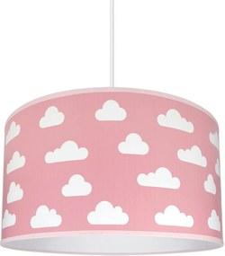 Lampa copii CLOUDS PINK 1xE27/60W/230V