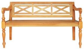 246970 vidaXL Bancă Batavia, lemn masiv mahon, 136x50x82 cm, maro deschis