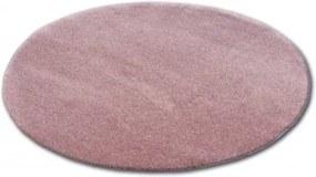 Covor rotund Shaggy Micro roz cerc 60 cm