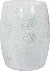 Taburet din metal Colombo alb/verde