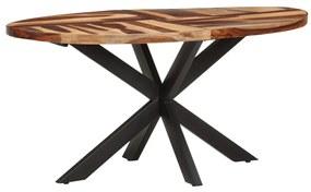 321674 vidaXL Masă de bucătărie, 160x90x75 cm, lemn acacia, finisaj sheesham