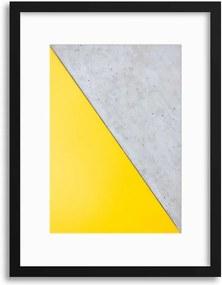 Imagine în cadru - Grey/Yellow Abstraction 30x40 cm