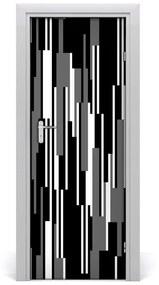 Autocolante pentru usi linii negre și albe