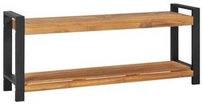 325274 vidaXL Bancă, 120 cm, lemn masiv de tec