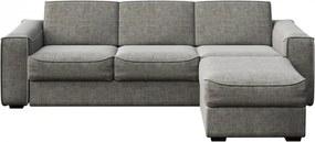 Canapea extensibila cu colt gri din poliester si lemn pentru 4 persoane Munro Big Mesonica